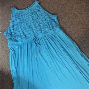Avenue crochet maxi dress